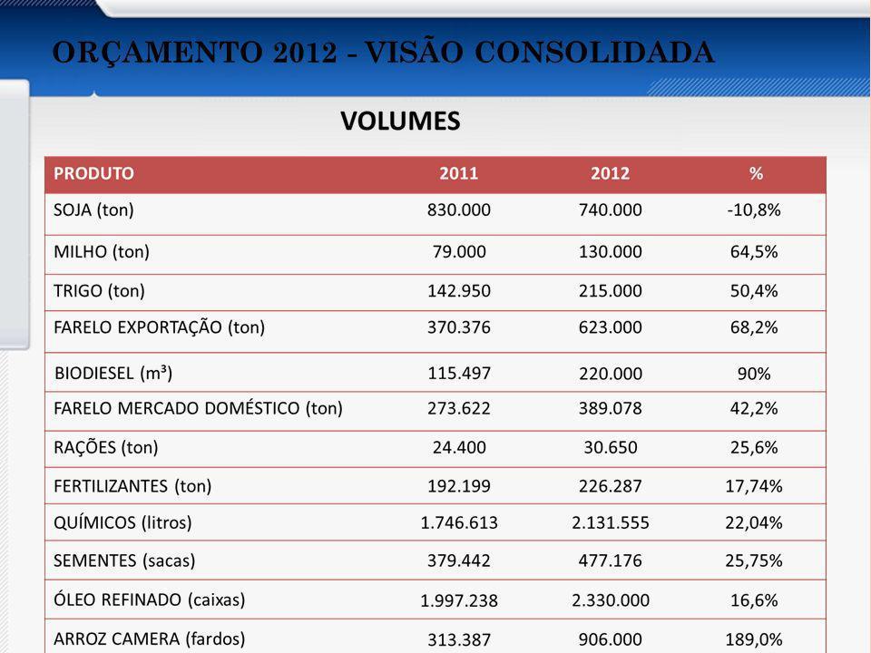 ORÇAMENTO 2012 - VISÃO CONSOLIDADA