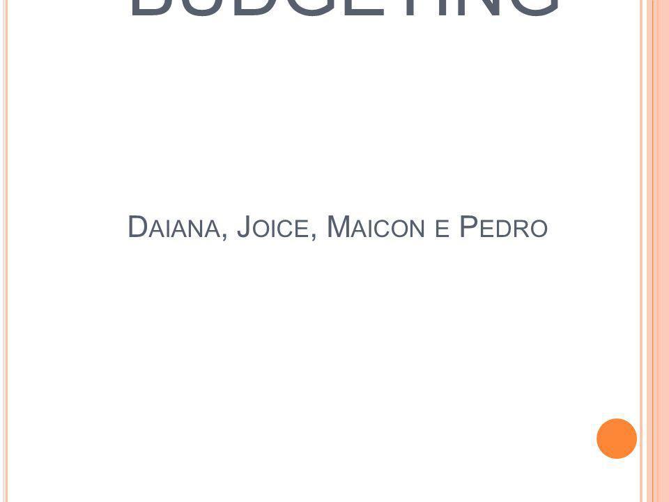 O BEYOND BUDGETING Daiana, Joice, Maicon e Pedro