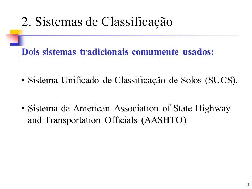2. Sistemas de Classificação