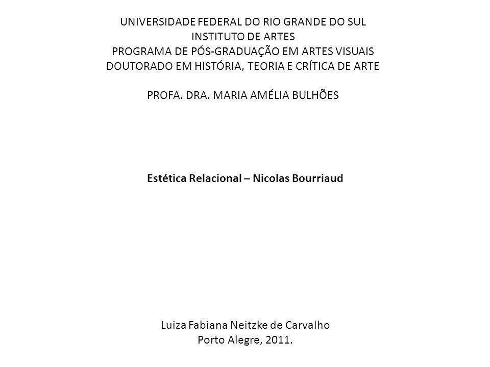 Estética Relacional – Nicolas Bourriaud