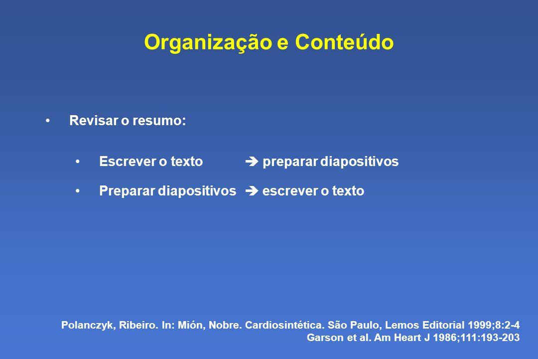 Organização e Conteúdo