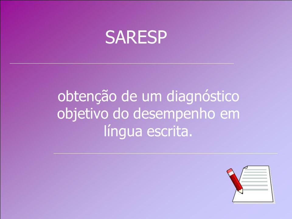 obtenção de um diagnóstico objetivo do desempenho em língua escrita.