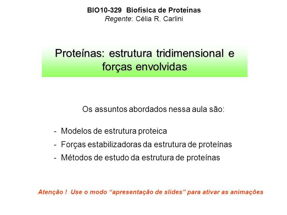 Proteínas: estrutura tridimensional e forças envolvidas