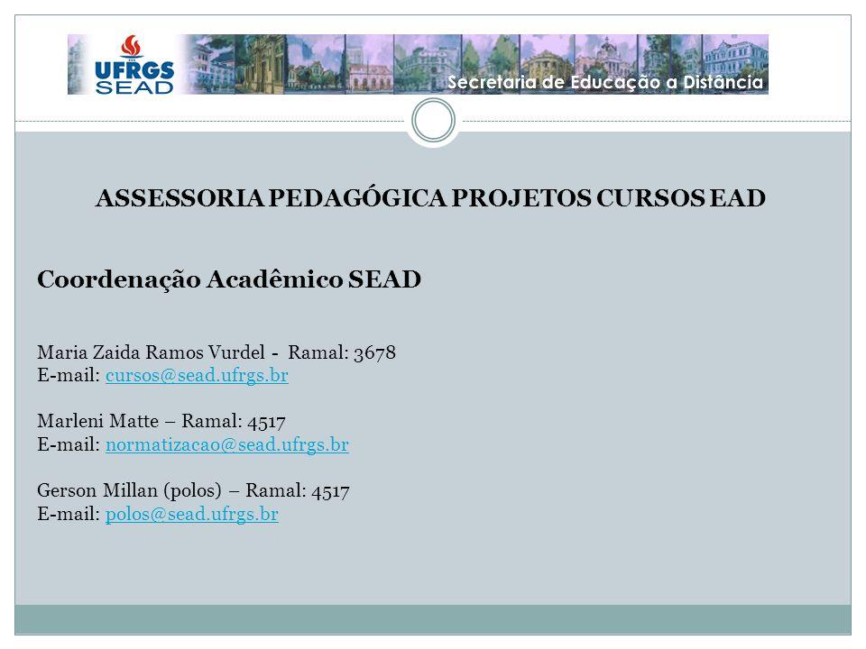 ASSESSORIA PEDAGÓGICA PROJETOS CURSOS EAD