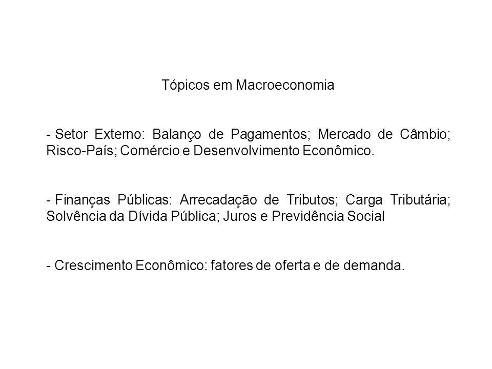 Tópicos em Macroeconomia