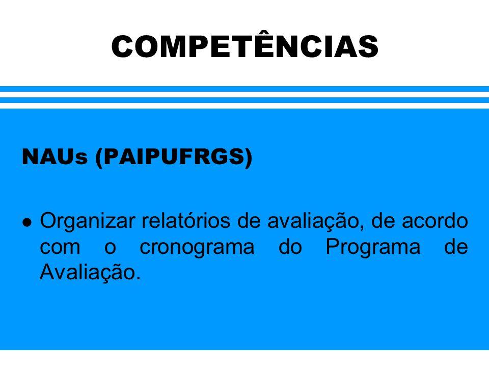 COMPETÊNCIAS NAUs (PAIPUFRGS)