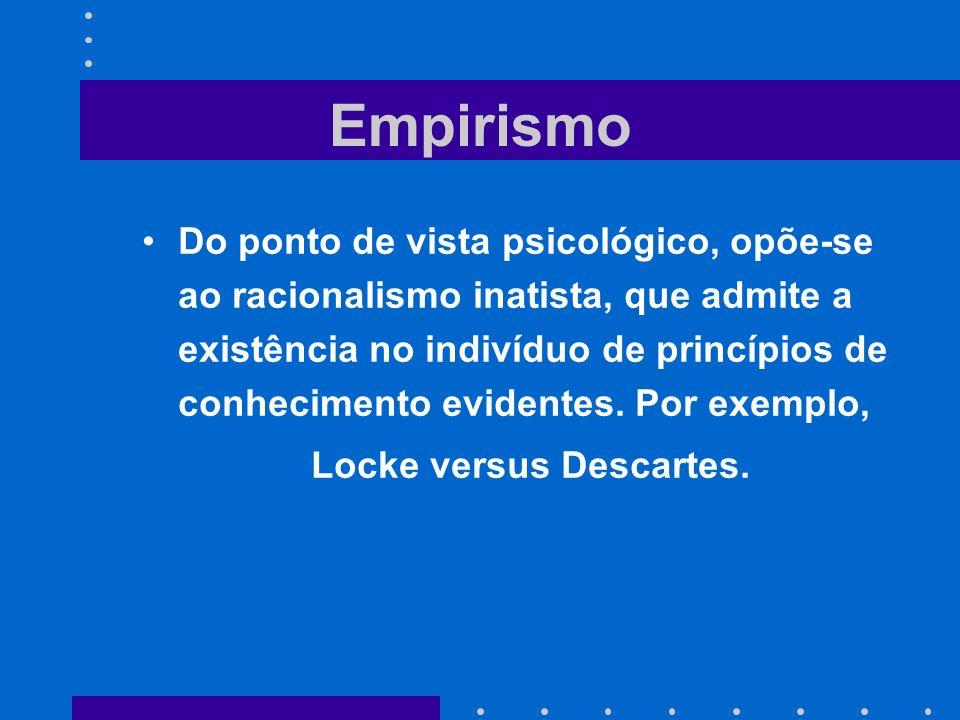 Locke versus Descartes.
