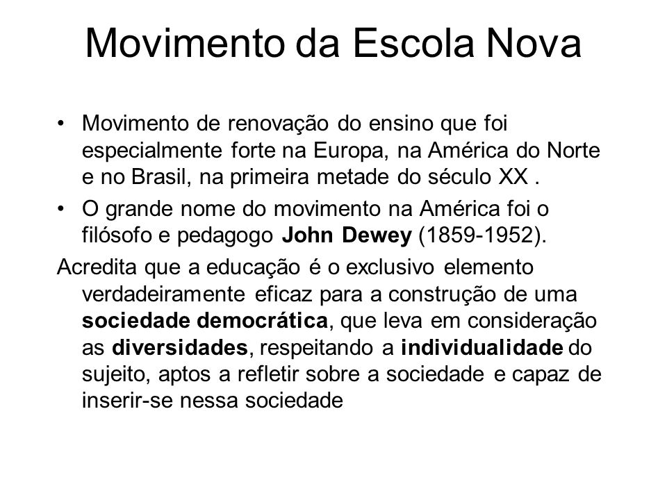 Movimento da Escola Nova