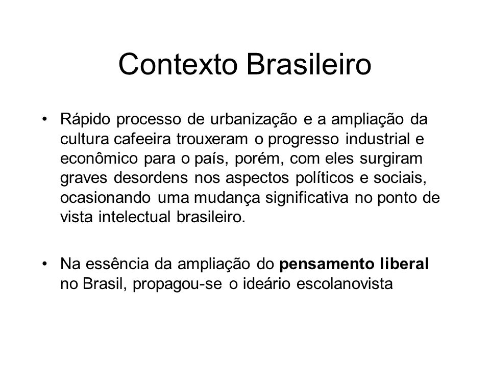 Contexto Brasileiro