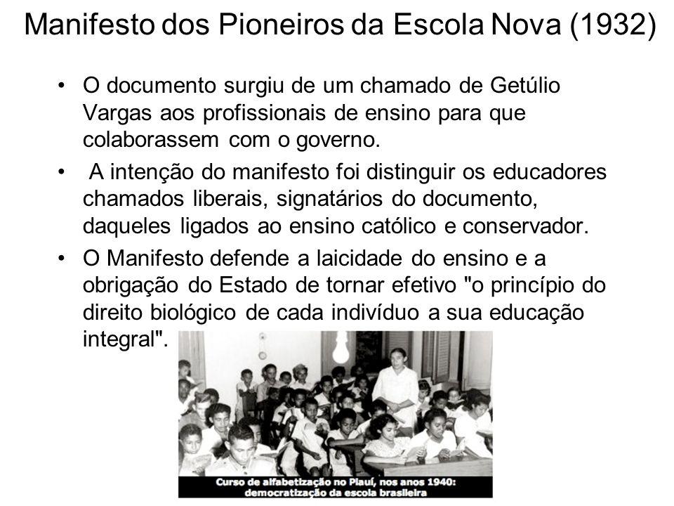 Manifesto dos Pioneiros da Escola Nova (1932)