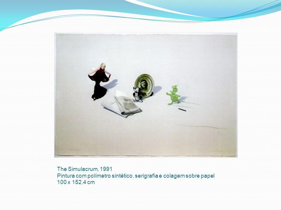The Simulacrum, 1991 Pintura com polímetro sintético, serigrafia e colagem sobre papel.