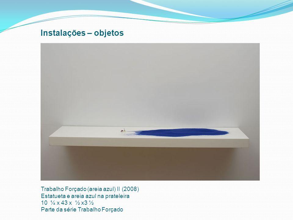 Instalações – objetos Trabalho Forçado (areia azul) II (2008)