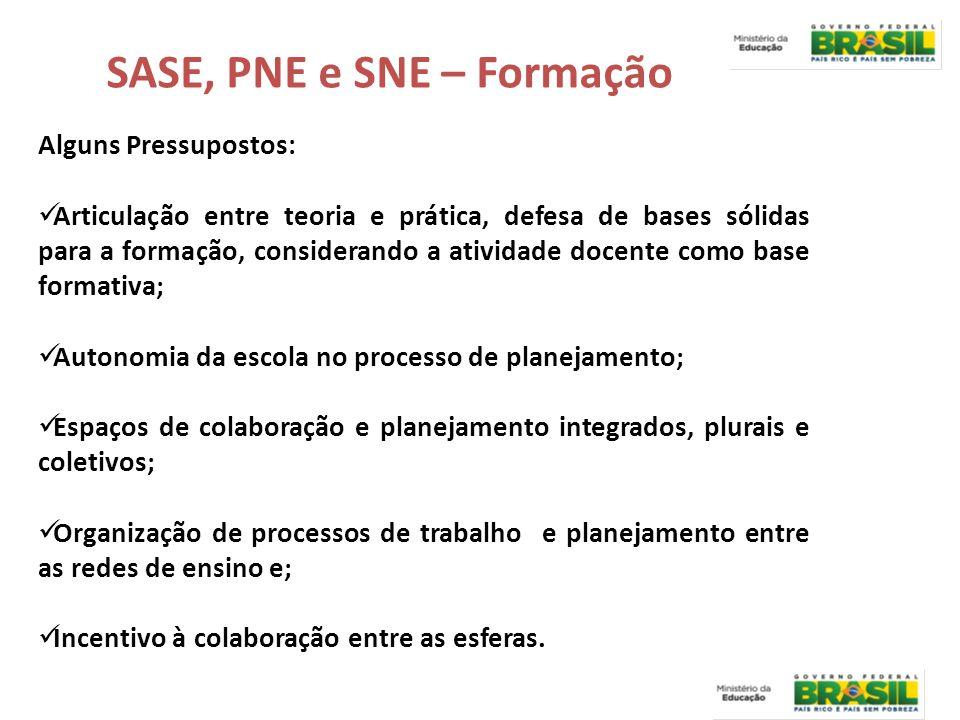 SASE, PNE e SNE – Formação