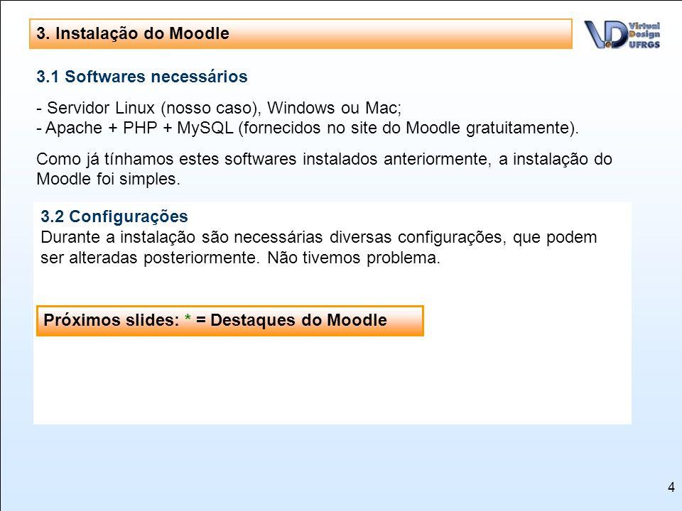 3. Instalação do Moodle 3.1 Softwares necessários.
