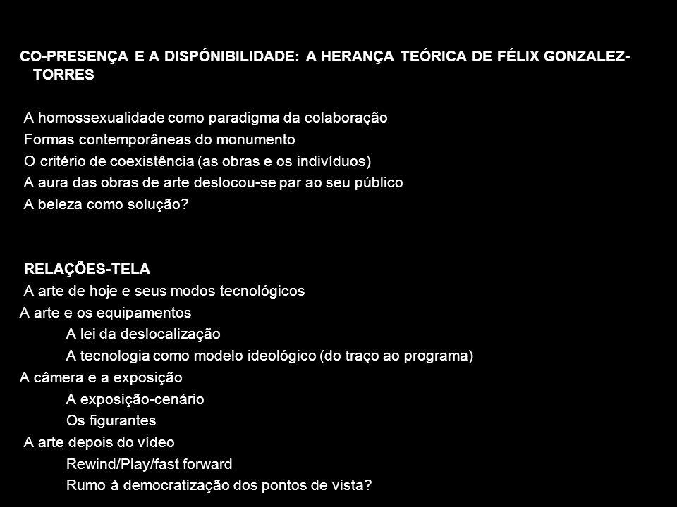 CO-PRESENÇA E A DISPÓNIBILIDADE: A HERANÇA TEÓRICA DE FÉLIX GONZALEZ- TORRES