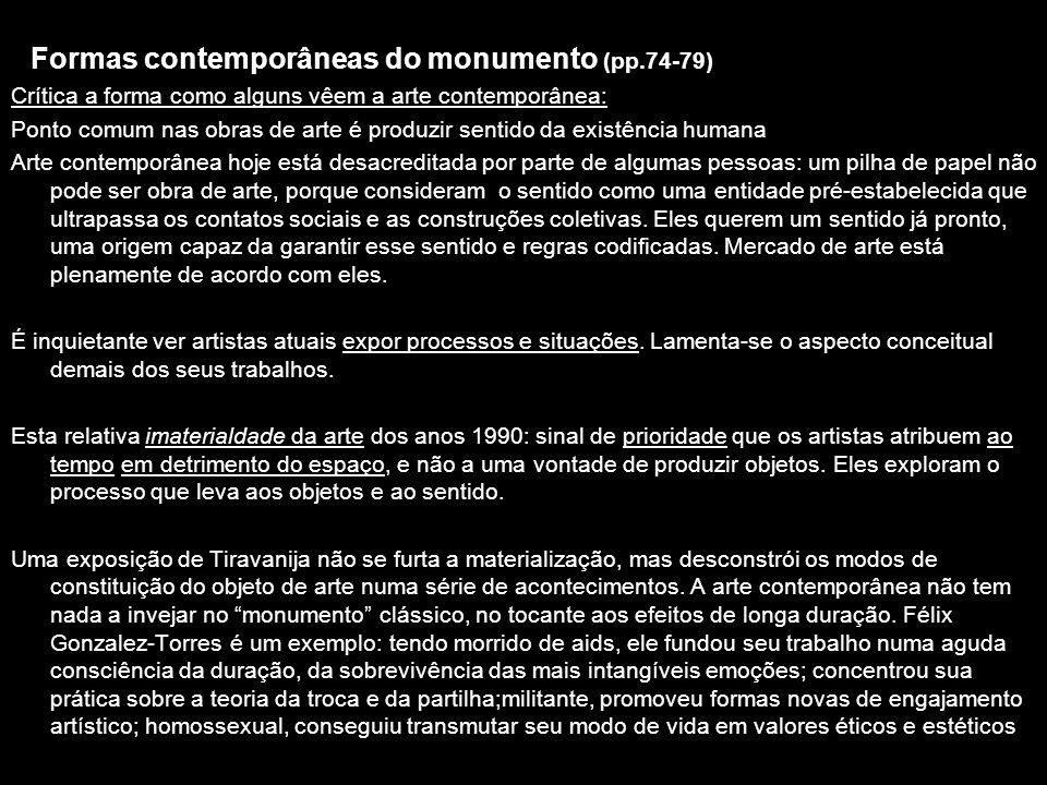 Formas contemporâneas do monumento (pp.74-79)
