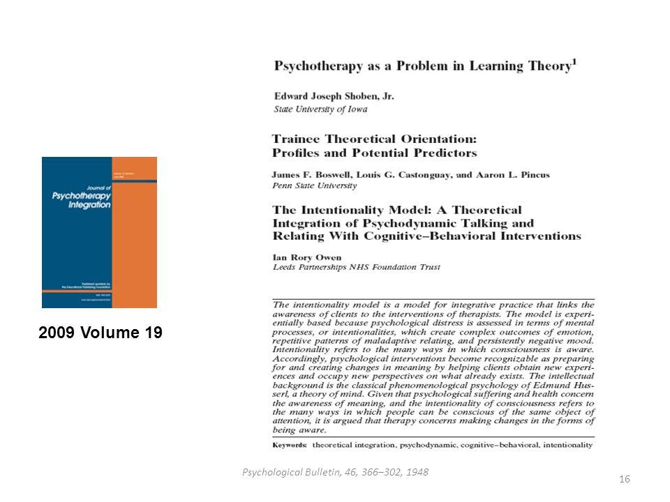 Psychological Bulletin, 46, 366–302, 1948