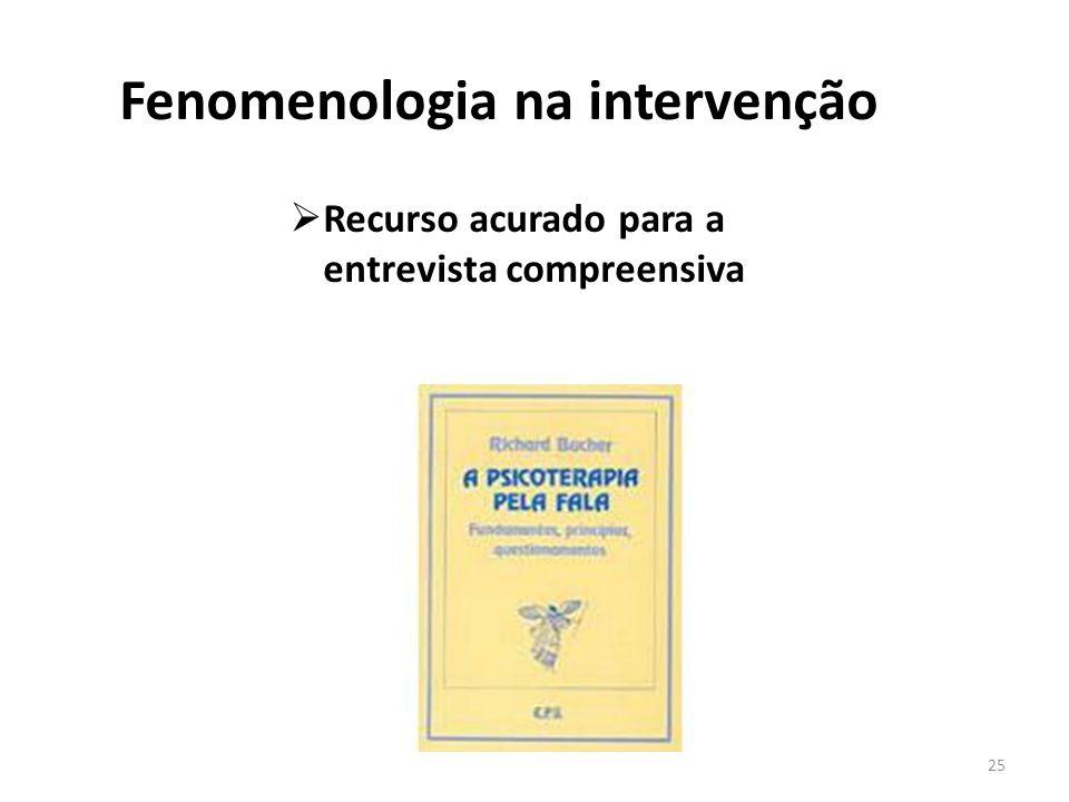 Fenomenologia na intervenção