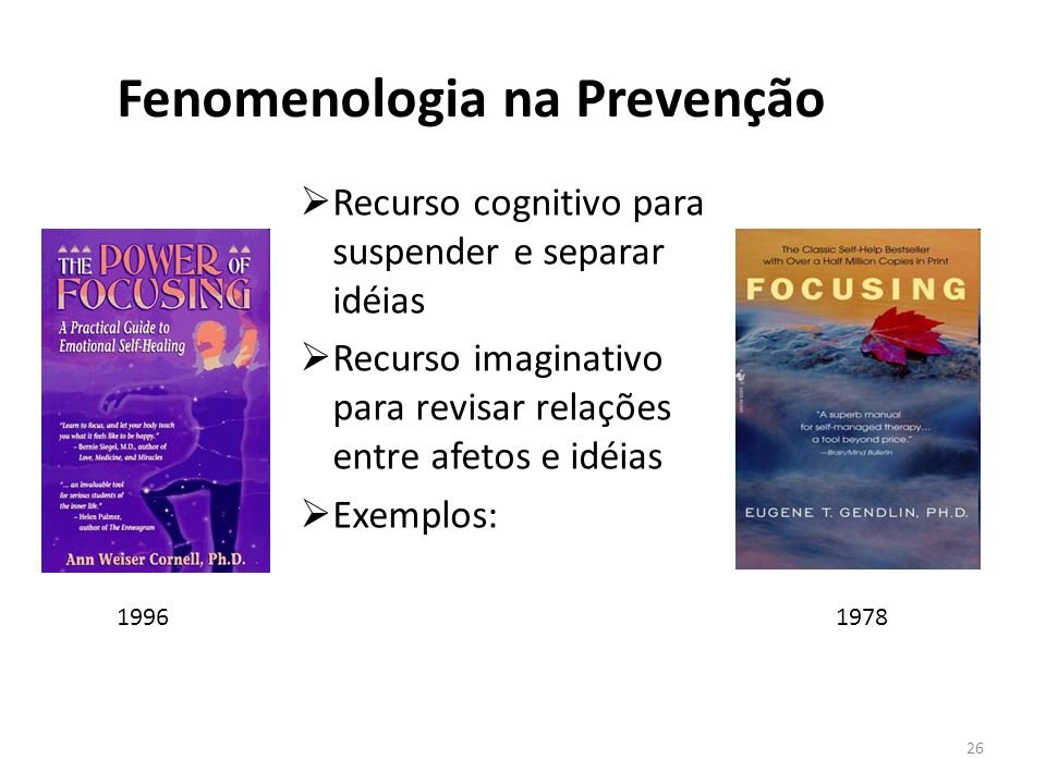 Fenomenologia na Prevenção