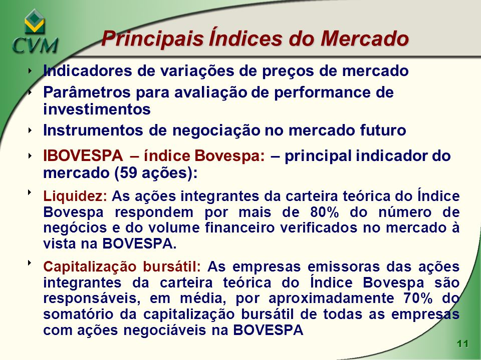 Principais Índices do Mercado