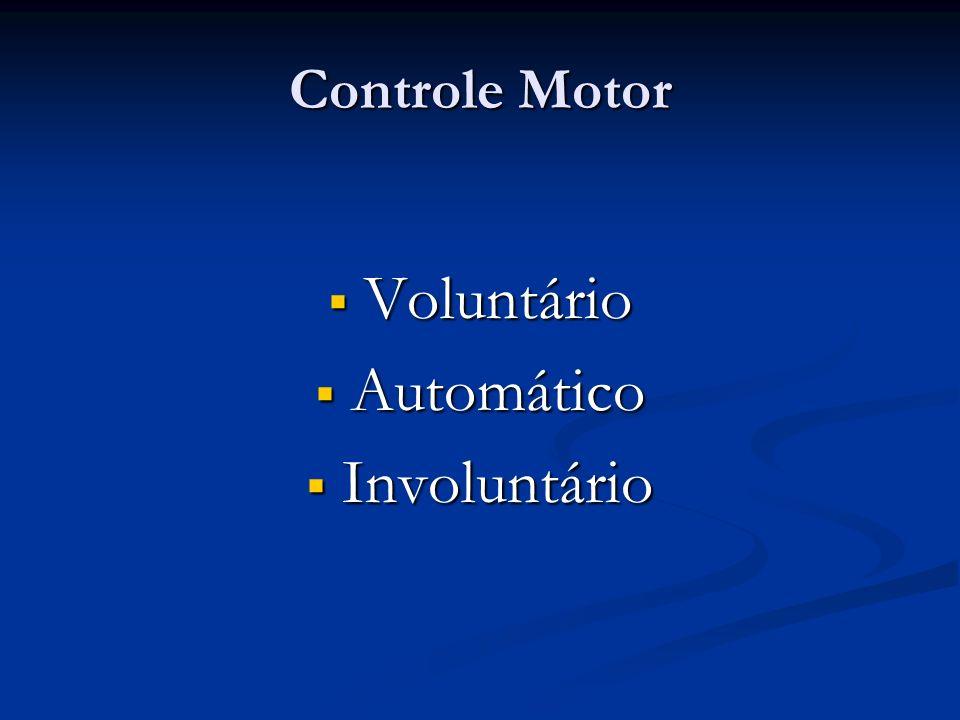 Controle Motor Voluntário Automático Involuntário