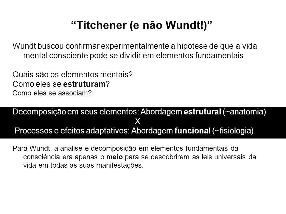 Titchener (e não Wundt!)