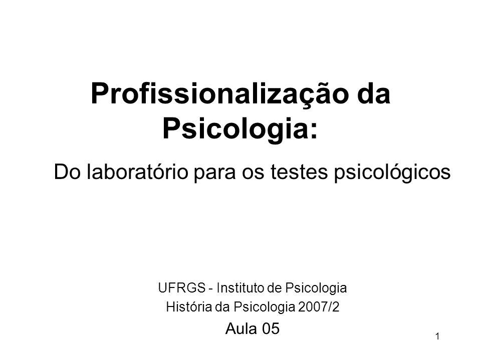 Profissionalização da Psicologia: