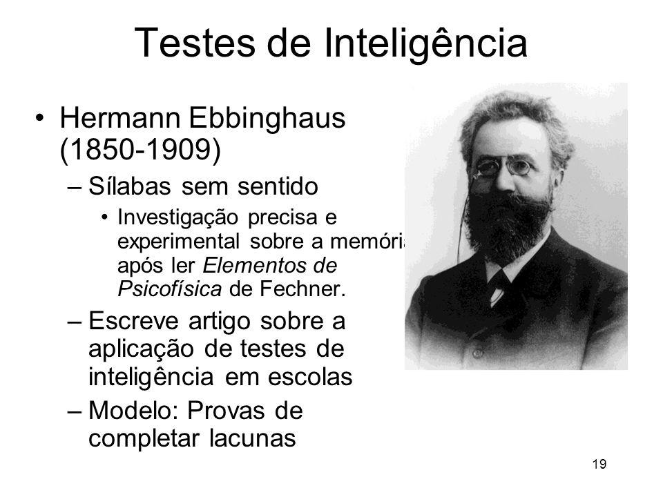 Testes de Inteligência