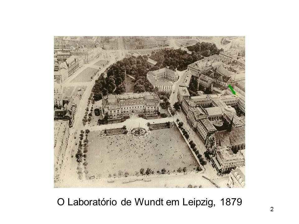 O Laboratório de Wundt em Leipzig, 1879