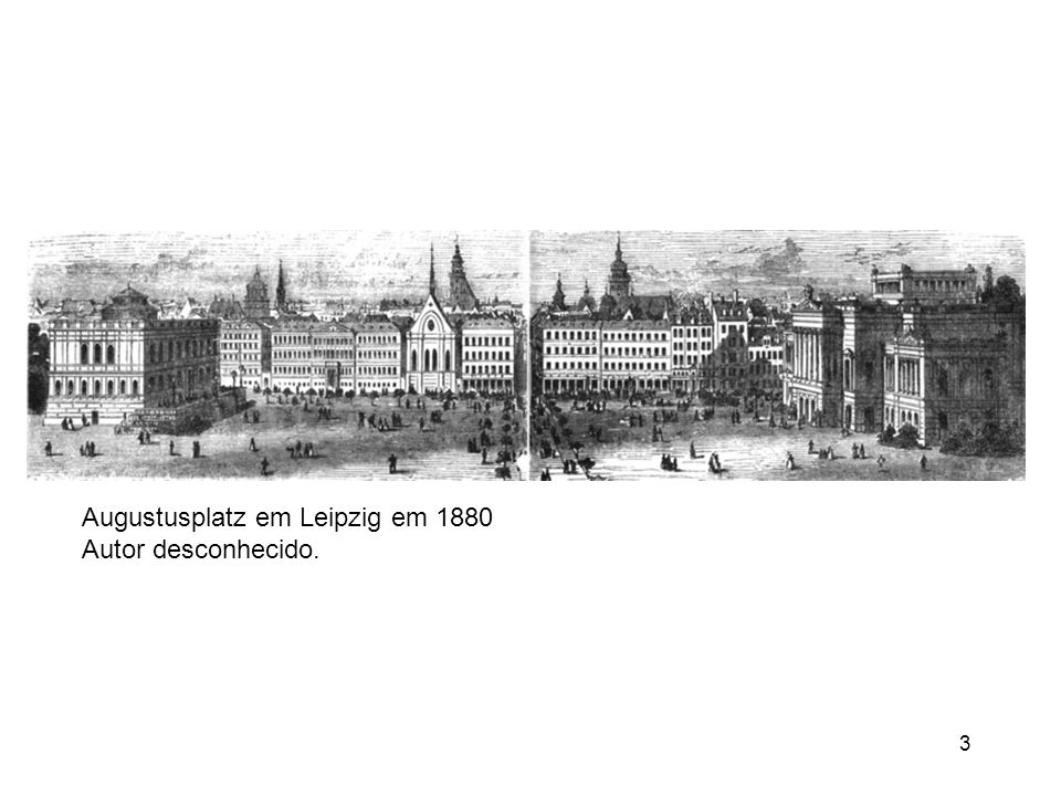 Augustusplatz em Leipzig em 1880