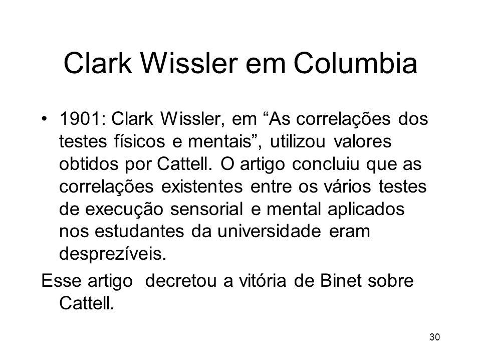 Clark Wissler em Columbia