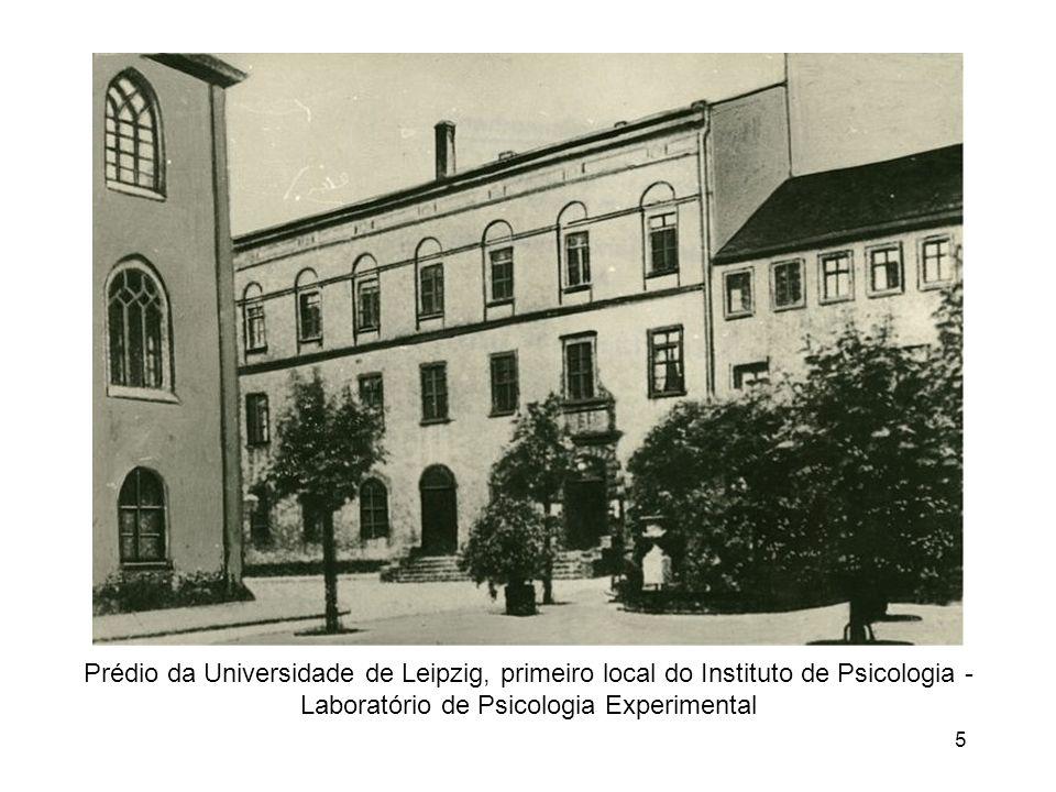 Prédio da Universidade de Leipzig, primeiro local do Instituto de Psicologia - Laboratório de Psicologia Experimental