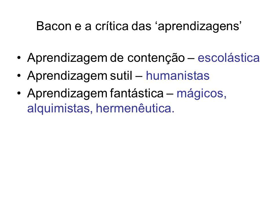 Bacon e a crítica das 'aprendizagens'