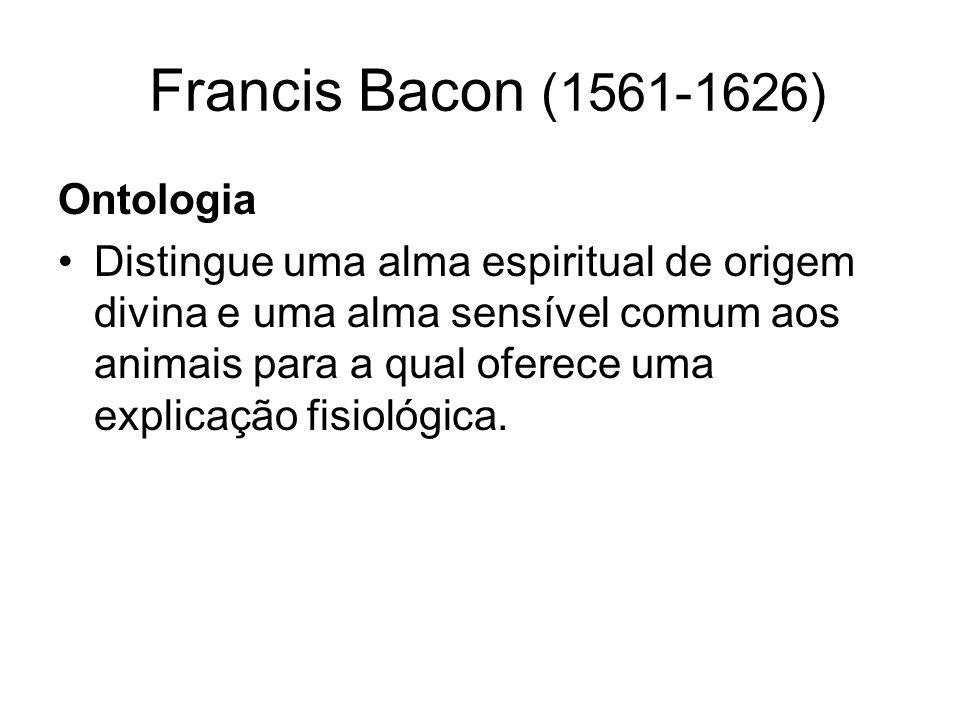 Francis Bacon (1561-1626) Ontologia