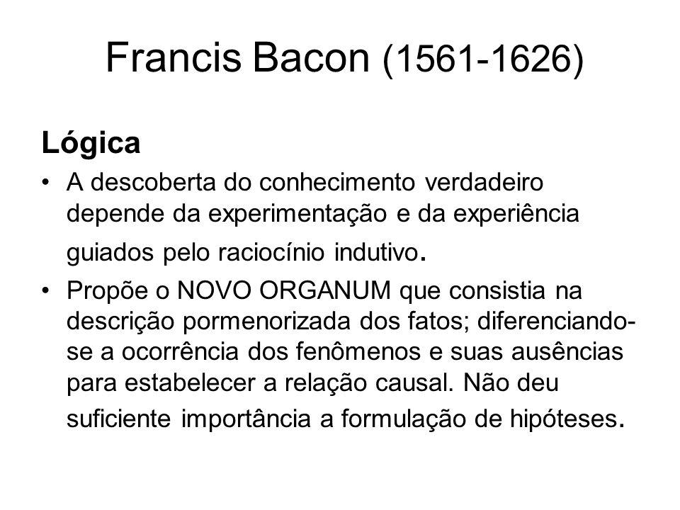 Lógica Francis Bacon (1561-1626)