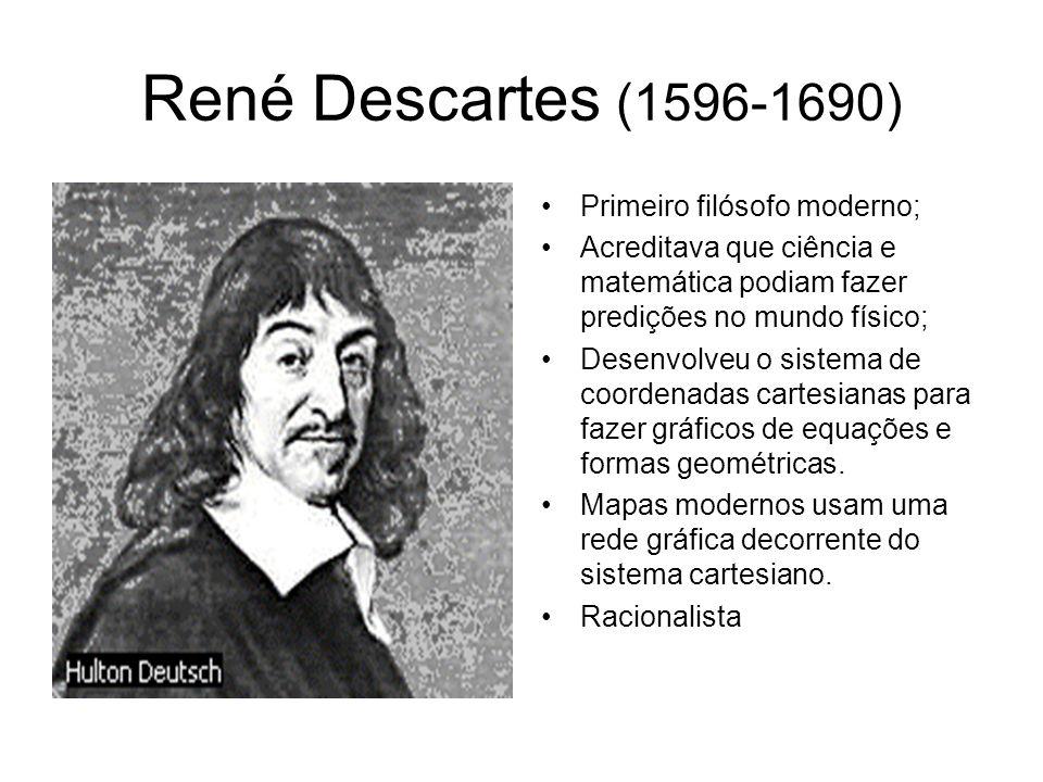 René Descartes (1596-1690) Primeiro filósofo moderno;
