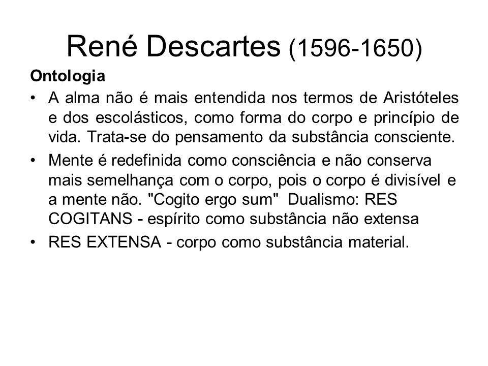 René Descartes (1596-1650) Ontologia