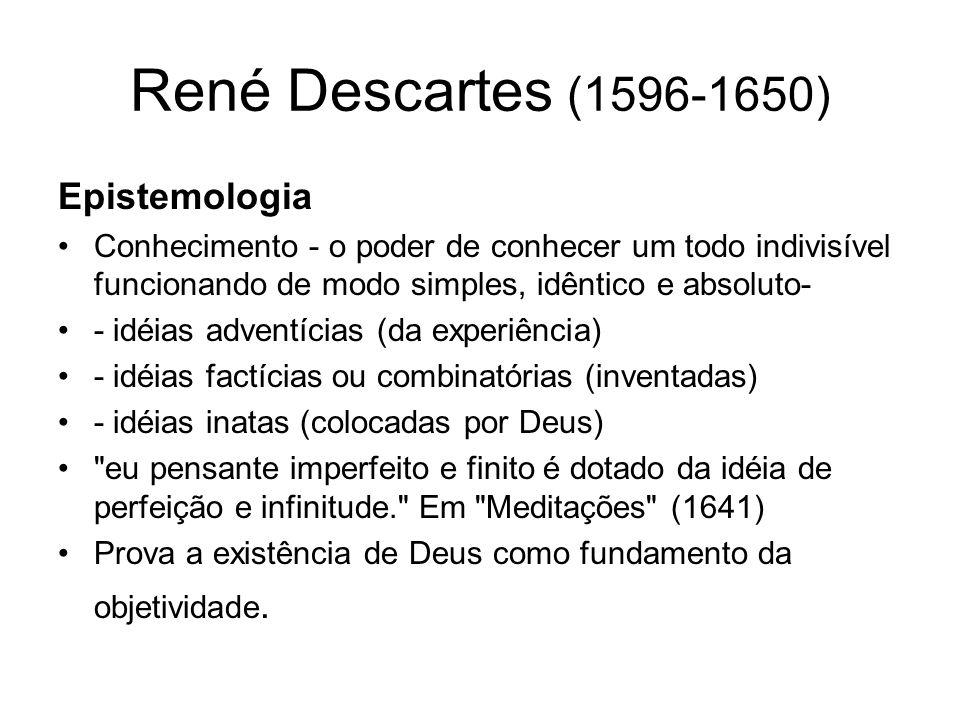 René Descartes (1596-1650) Epistemologia