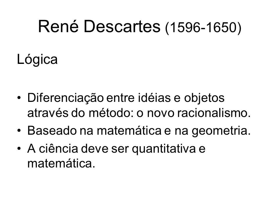 René Descartes (1596-1650) Lógica