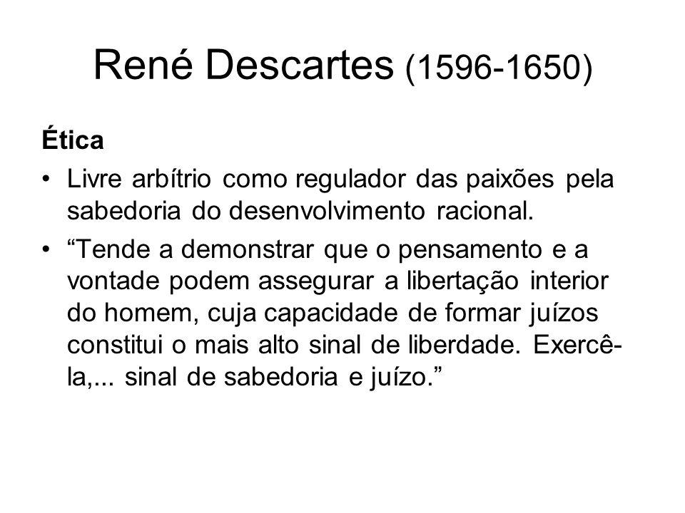René Descartes (1596-1650) Ética