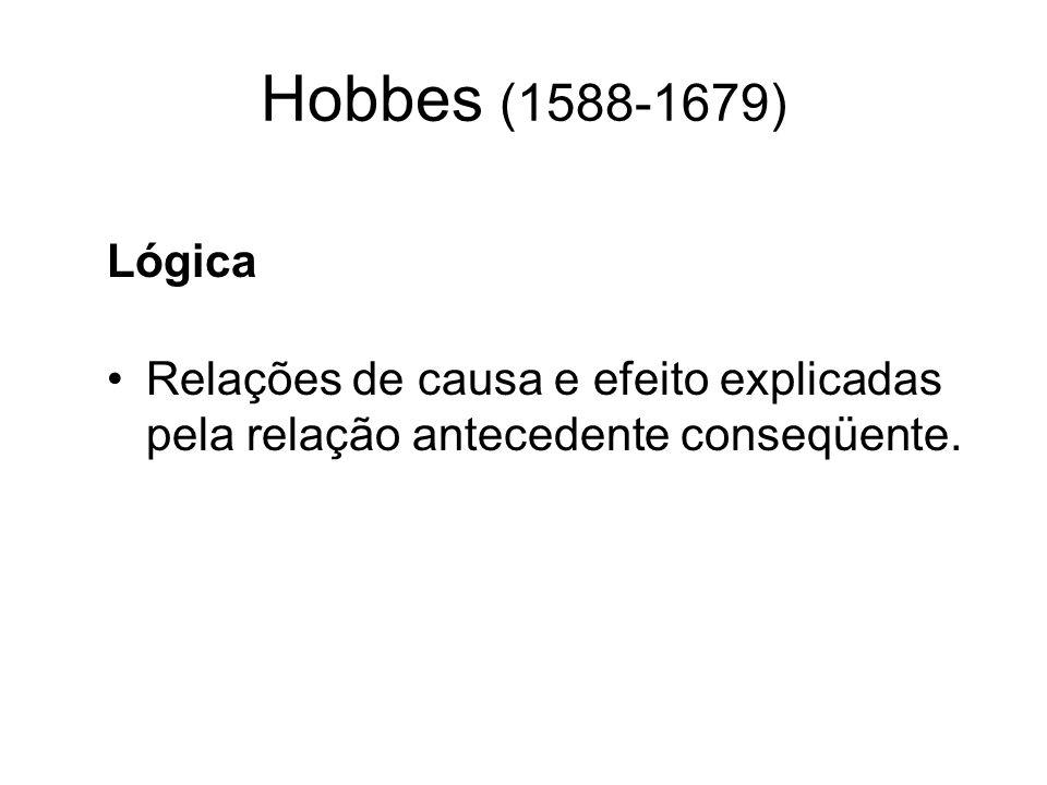 Hobbes (1588-1679) Lógica.