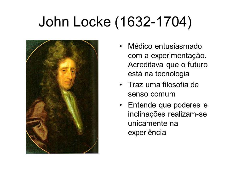 John Locke (1632-1704) Médico entusiasmado com a experimentação. Acreditava que o futuro está na tecnologia.