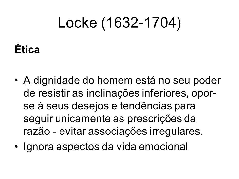 Locke (1632-1704) Ética.