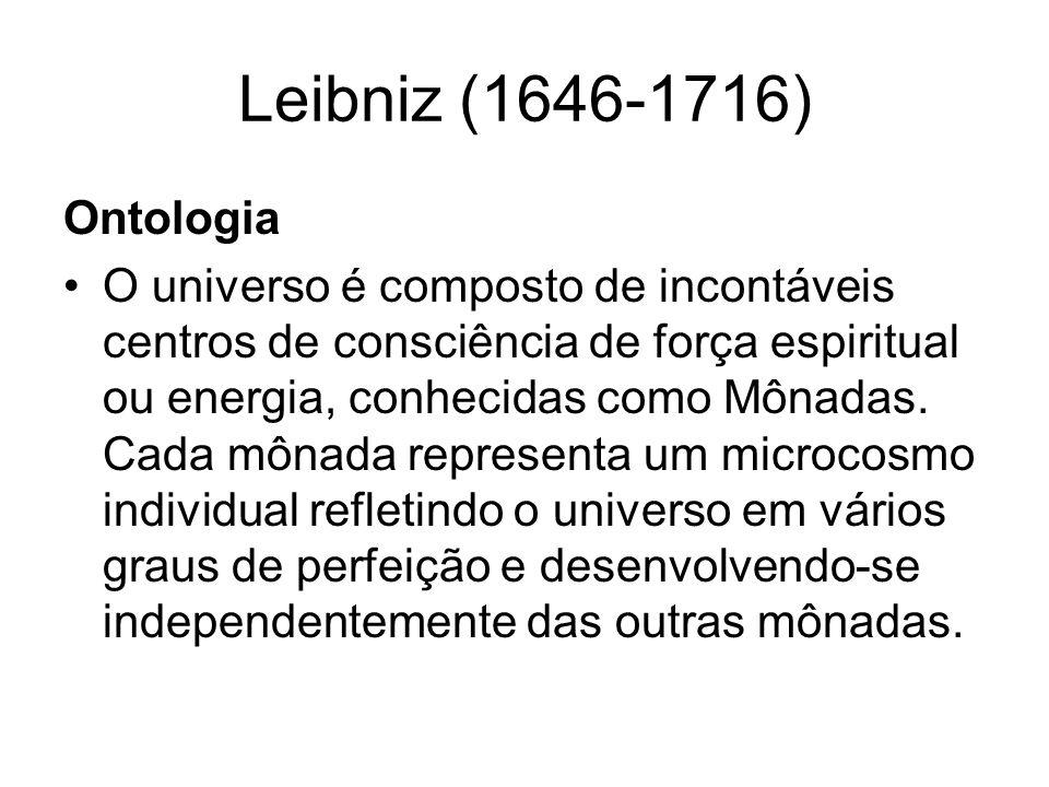 Leibniz (1646-1716) Ontologia.