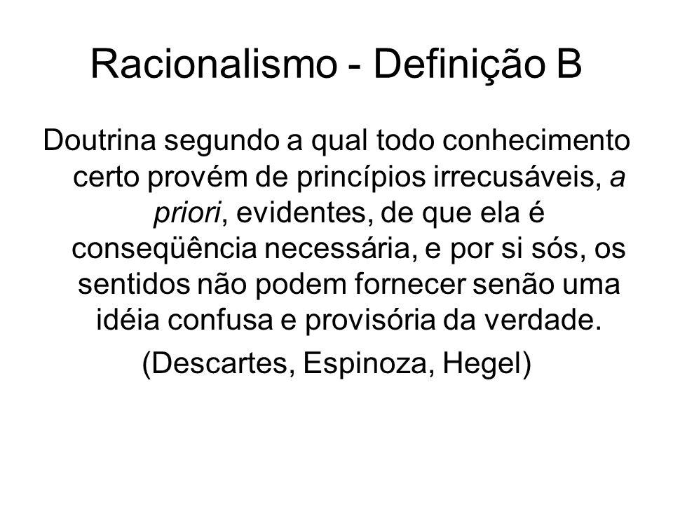Racionalismo - Definição B