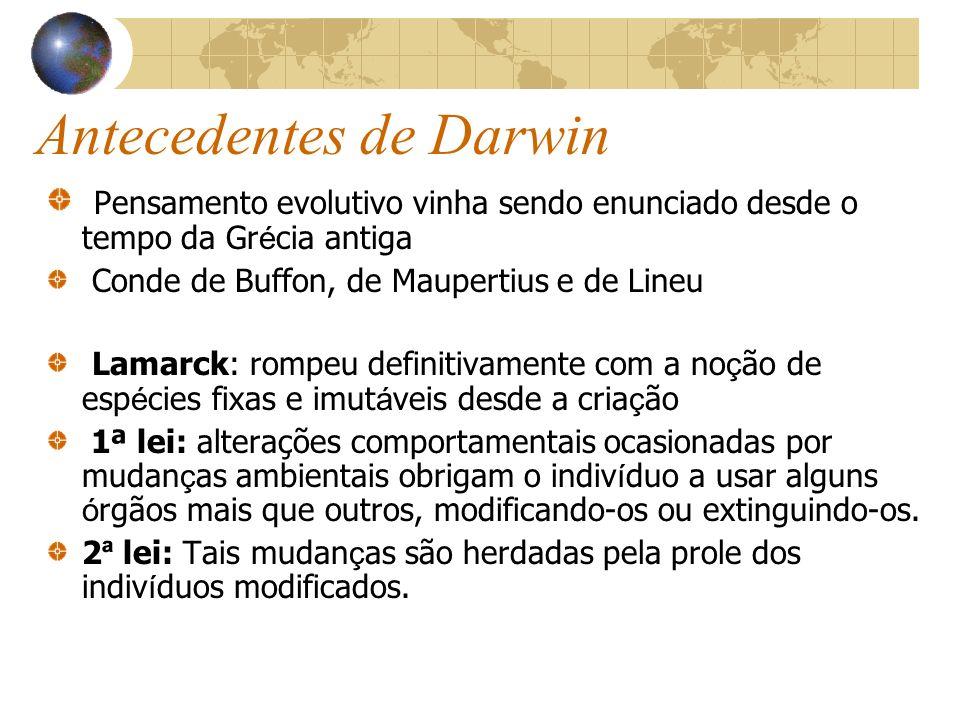Antecedentes de Darwin