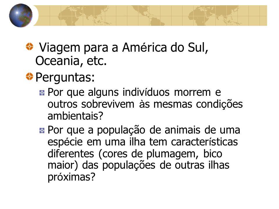 Viagem para a América do Sul, Oceania, etc. Perguntas: