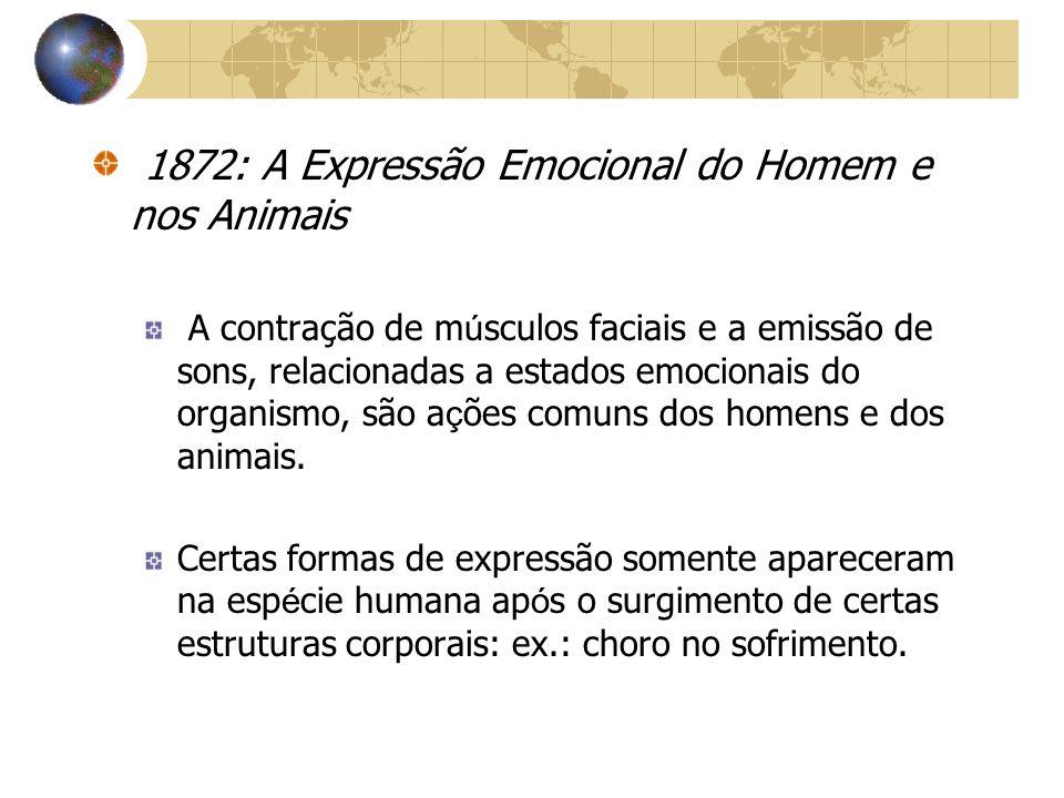 1872: A Expressão Emocional do Homem e nos Animais