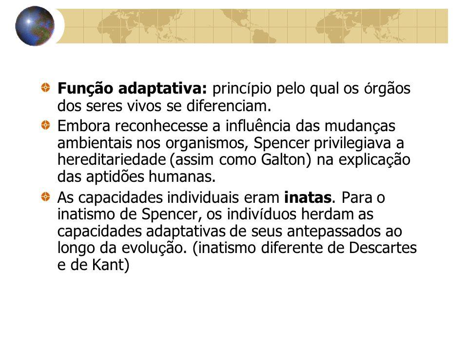 Função adaptativa: princípio pelo qual os órgãos dos seres vivos se diferenciam.
