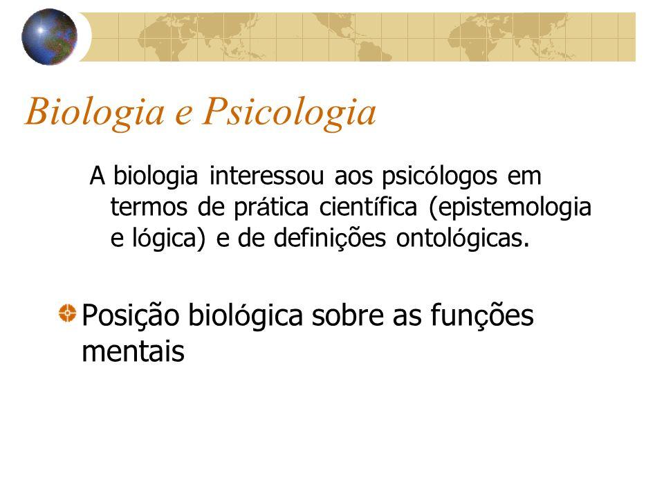 Biologia e Psicologia Posição biológica sobre as funções mentais